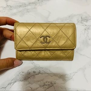 ❌SOLD❌ CHANEL Champagne Gold Card Case